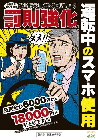 運転中のスマホ使用の危険性等に関する広報啓発チラシ